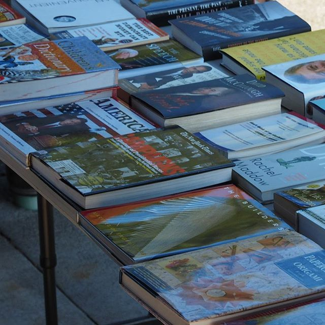 Books for sale at NPI's Thirteenth Anniversary Picnic