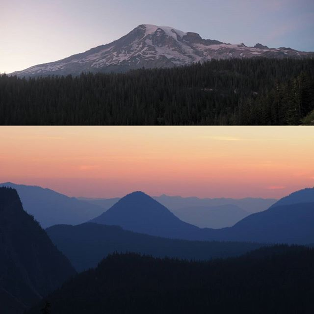 Mount Rainier and points beyond after sunset, from Inspiration Point #NPS100