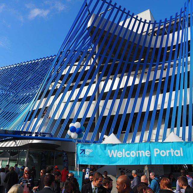 Welcome Portal for the Angle Lake Station dedication