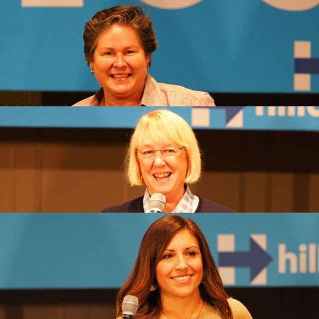 Yesterday's organizing event in Seattle also featured Tina Podlodowski (top), Patty Murray (middle) and Teresa Mosqueda (bottom)