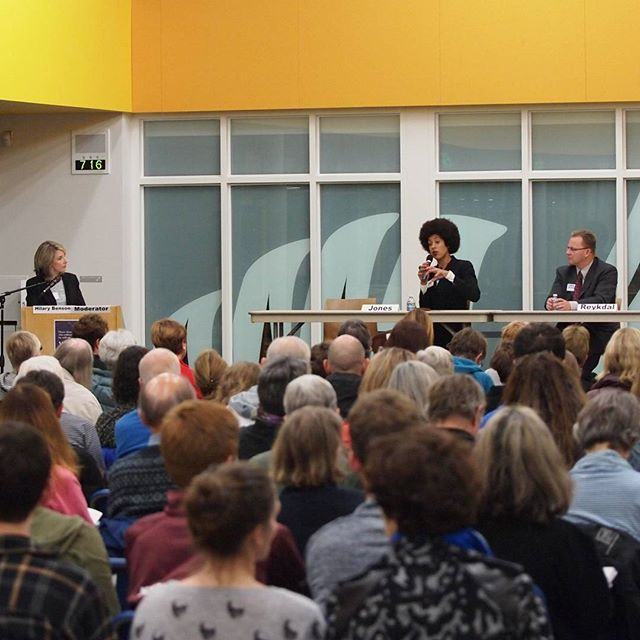 Packed house for League of Women Voters' Superintendent of Public Instruction candidate forum