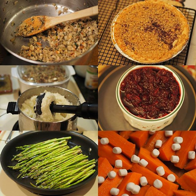 It wouldn't be #Thanksgiving without... (Stuffing, pie, mashed potatoes, cranberries, asparagus, sweet potatoes) | What are your Turkey Day staples?