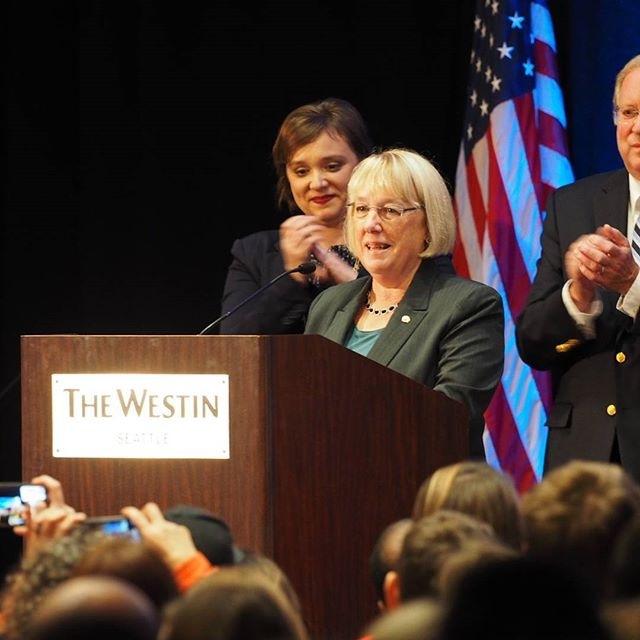 U.S. Senator Patty Murray delivers her reelection victory speech