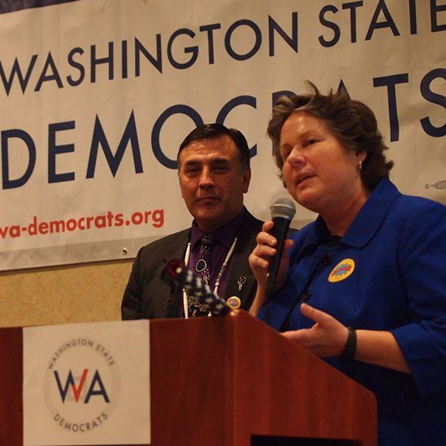 Tina Podlodowski and Joe Pakootas, the Chair and Vice Chair of the Democratic Party