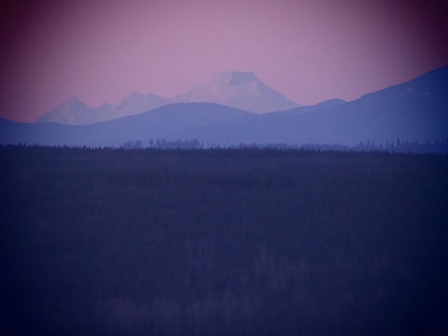 Mount Baker at sunset (Art Filter: Pin Hole III)