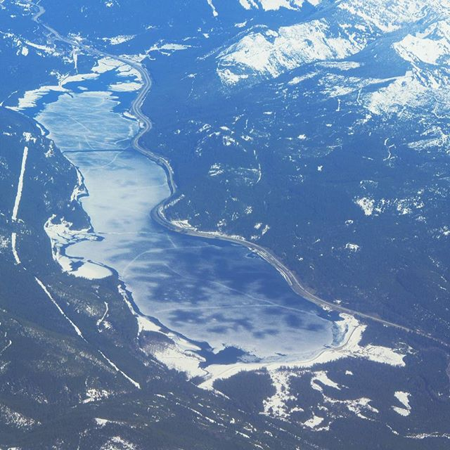 Keechelus Lake and Interstate 90, seen from the air (Filter: Perpetua)