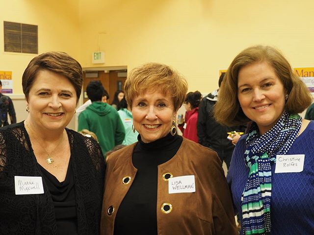 Left to right: Marcie Maxwell, Lisa Wellman, and Christine Rolfes.