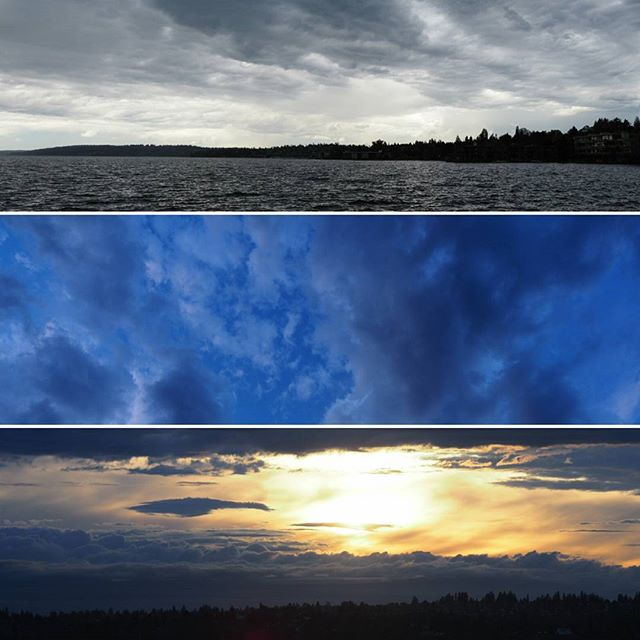 Before and after thunderstorm montage