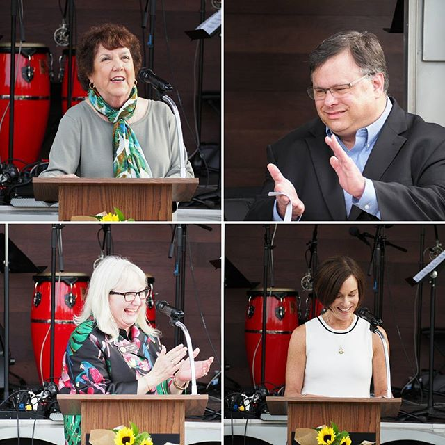 Speakers at the Downtown Redmond Park groundbreaking: Nancy McCormick, John Marchione, Joan McBride, Molly Hill