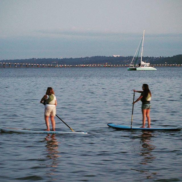 Paddleboarders on Lake Washington