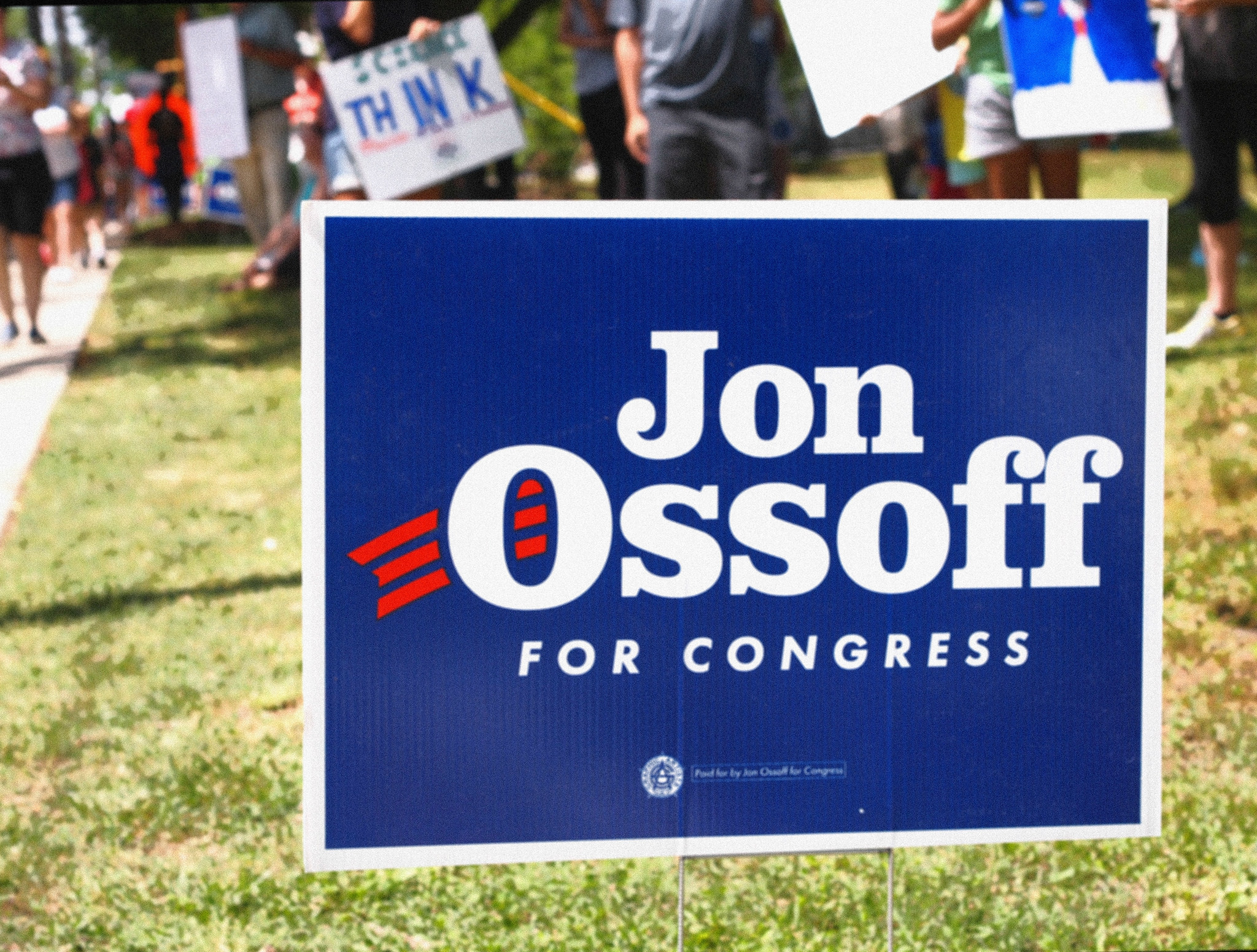 Jon Ossoff yard sign
