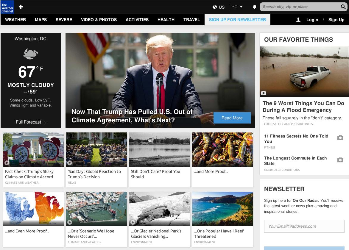 Weather Channel trolls Trump