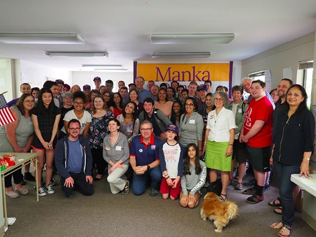 Canvassers for Manka Dhingra with Governor Jay Inslee