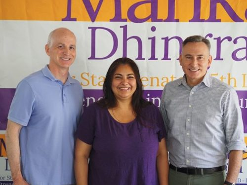 Manka Dhingra with Adam Smith and Dow Constantine