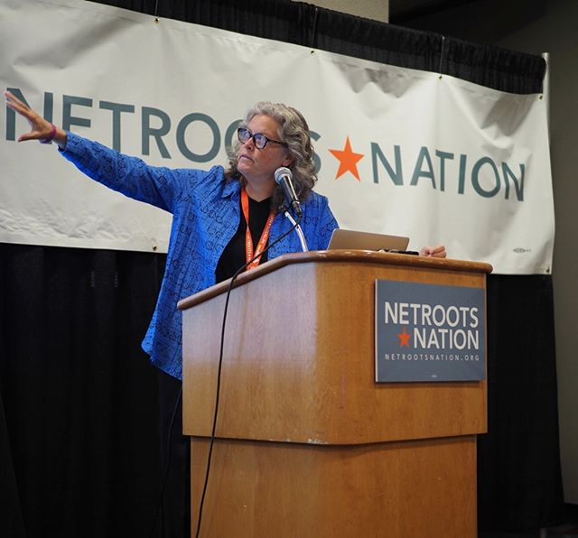 Scenes from Netroots Nation 2017: State Representative Laurie Jinkins addresses the Pacific NW Caucus #NN17