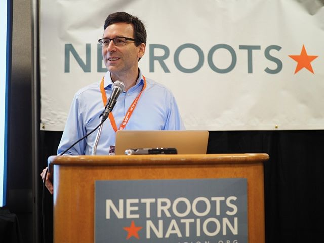 Scenes from Netroots Nation 2017: Washington's own AG Bob Ferguson addresses the Pacific Northwest Caucus #NN17