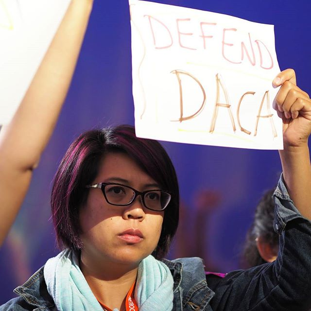 Defend DACA! sign at Netroots Nation 2017