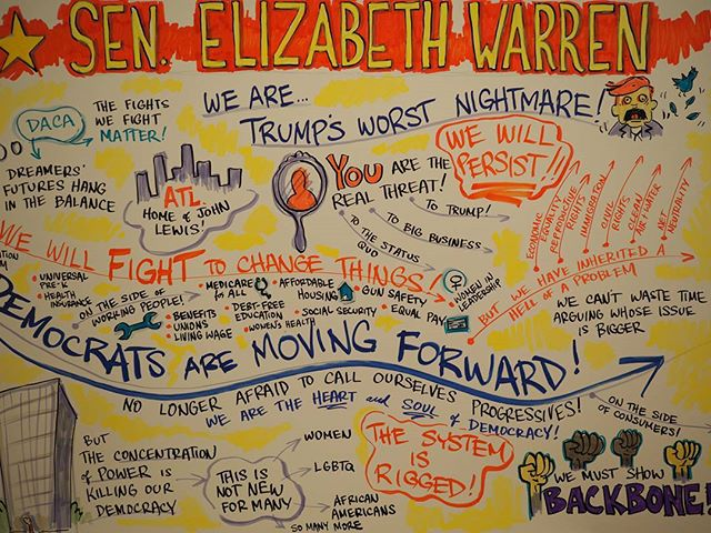 Scenes from Netroots Nation 2017: A visualization of Senator Elizabeth Warren's keynote #NN17