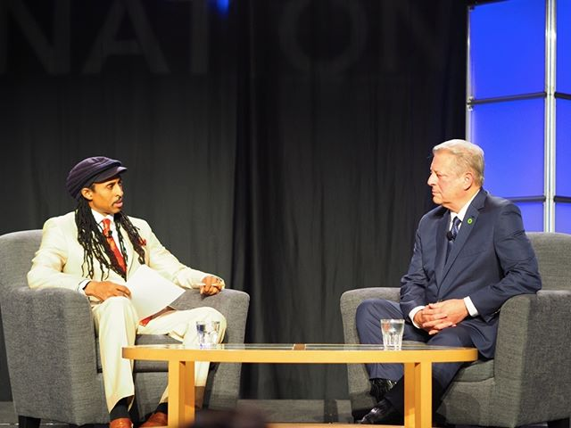 Scenes from Netroots Nation 2017: Mustafa Ali interviews Al Gore #NN17