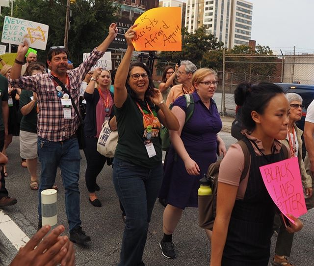 Scenes from the Atlanta March and Vigil for Charlottesville: Make Racists Afraid Again #NN17