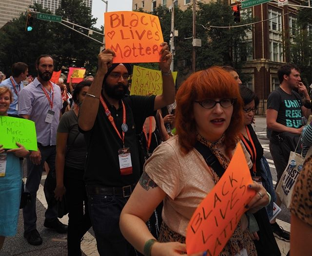 Scenes from the Atlanta March and Vigil for Charlottesville: Black Lives Matter #NN17
