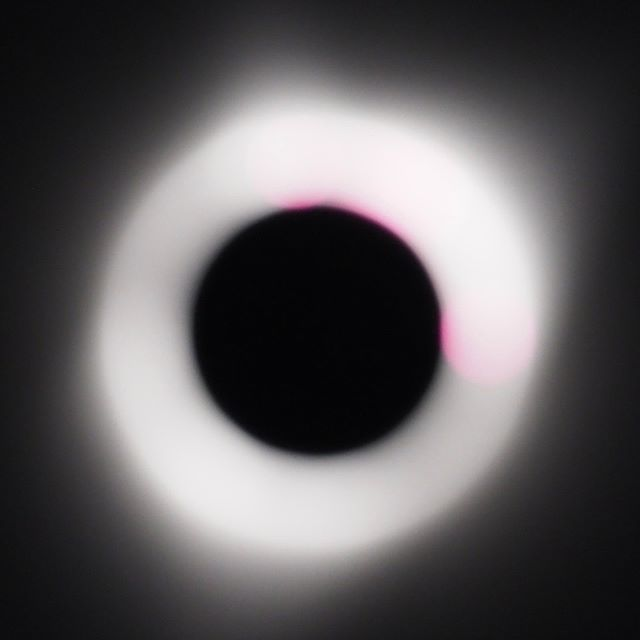 Scenes from the Great American Eclipse: Out of focus corona shot