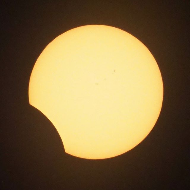 Scenes from the Great American Eclipse: Approaching fourth contact and the end of the eclipse (nearly two and a half hours in)