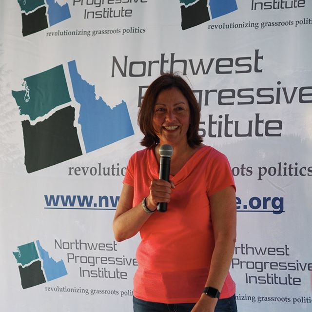 U.S. Representative Suzan DelBene speaks at NPI's Fourteenth Anniversary Picnic