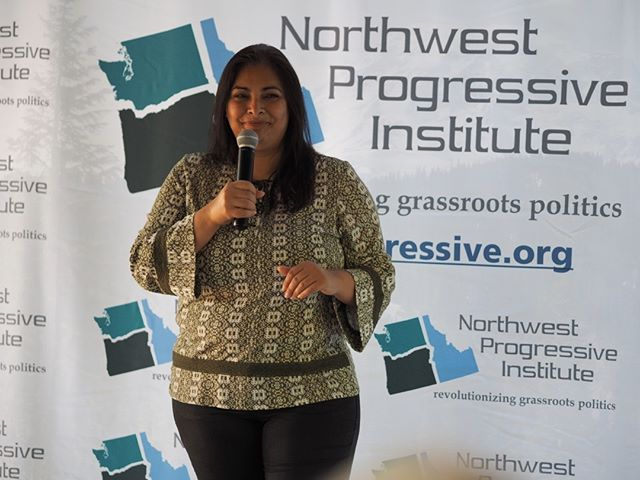 Manka Dhingra speaks at NPI's Fourteenth Anniversary Picnic