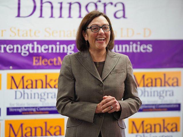 U.S. Representative Suzan DelBene kicks off a canvassing event for Manka Dhingra