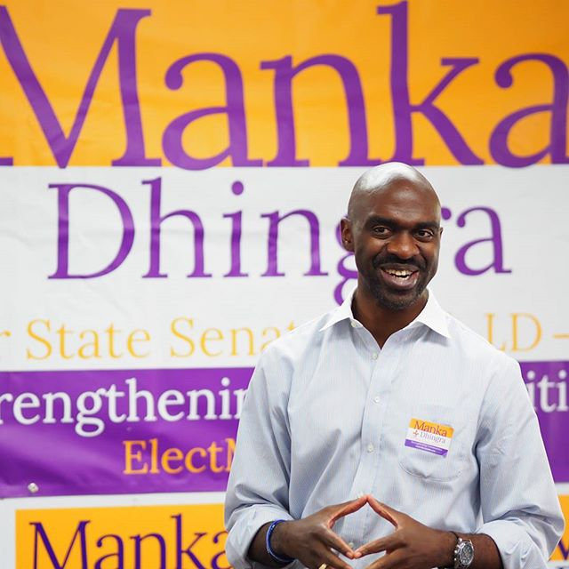DNC Vice Chair Michael Blake expresses his appreciation to Manka Dhingra's volunteers for their dedication