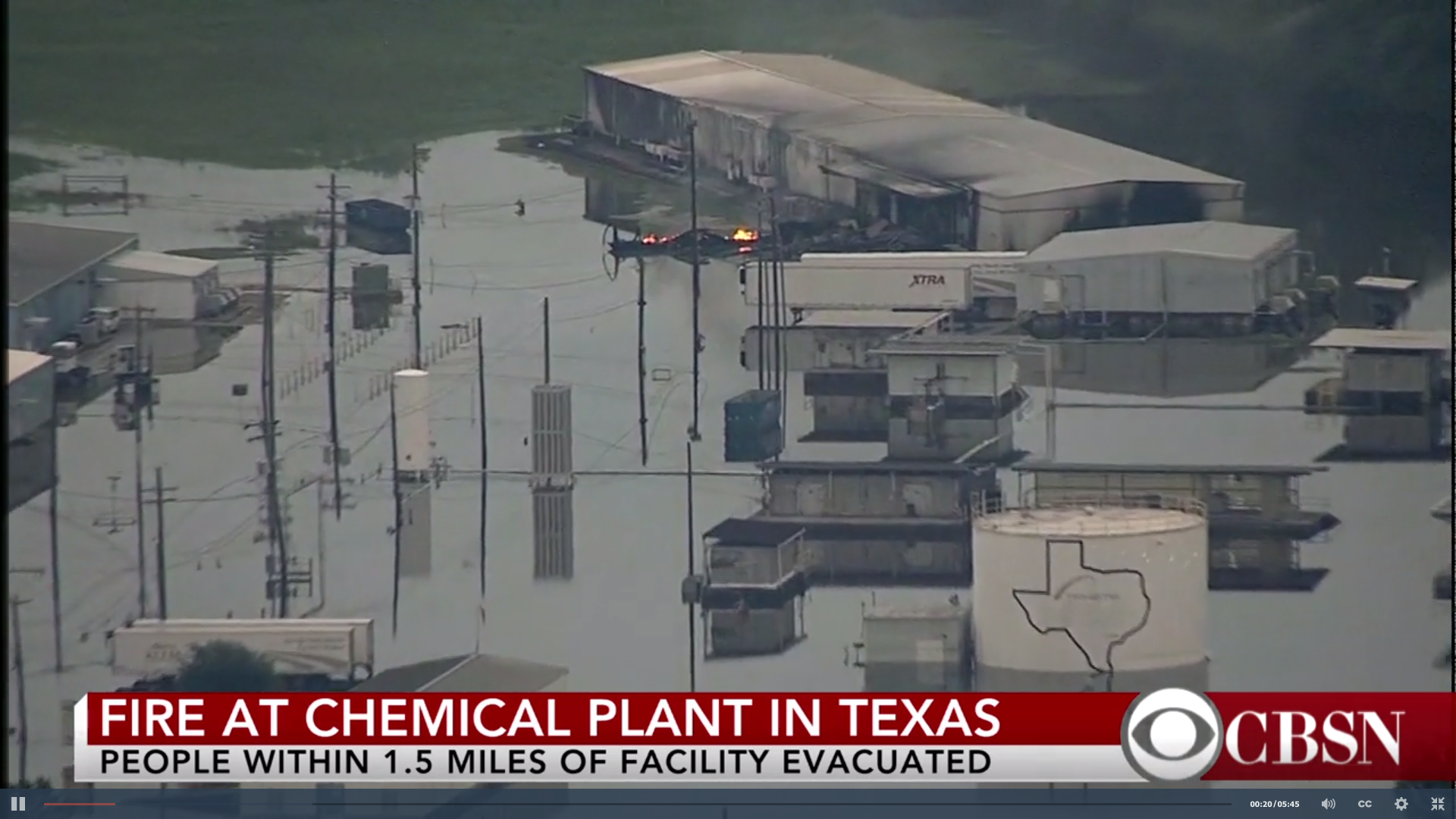 Fire at Arkema chemical plant in Texas