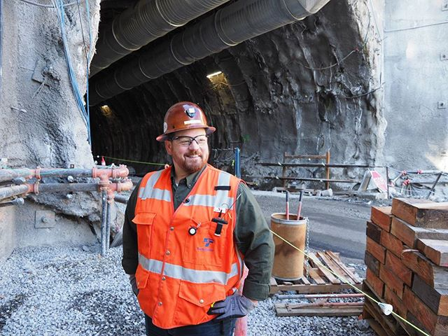 Inside Sound Transit's downtown Bellevue construction zone: Chad Frederick leads a tunnel tour
