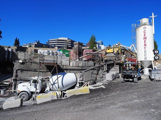 Inside Sound Transit's downtown Bellevue construction zone: Cement preparation