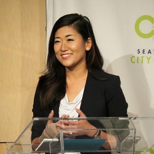 Jinyoung Englund at Seattle CityClub's 45th District Senate Debate