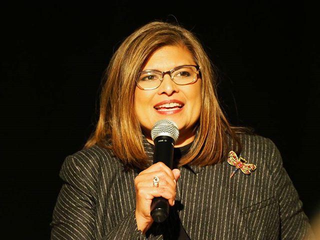 State Representative Vandana Slatter celebrates her first victory as a legislative candidate