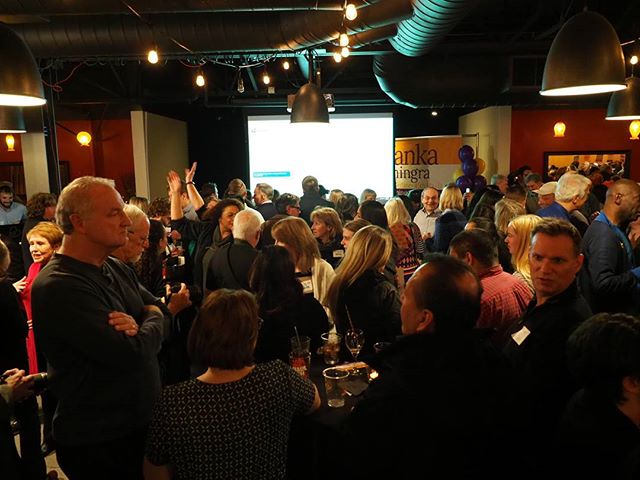The crowd at Manka Dhingra's victory party in Woodinville #waelex
