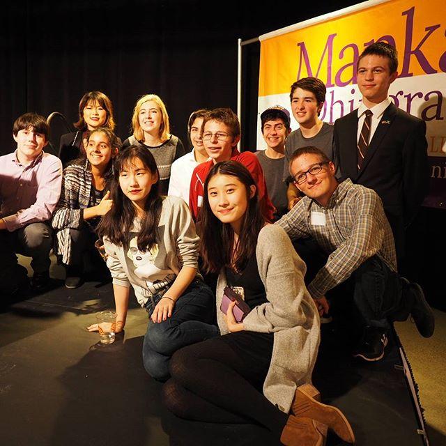 Manka Dhingra's Teen Campaign Committee celebrates victory