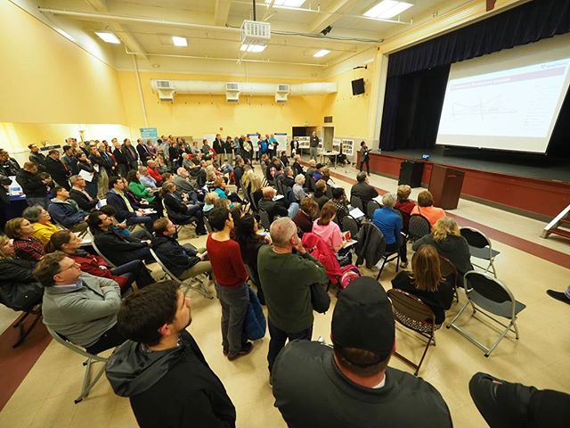 A packed house was on hand for Sound Transit's downtown Redmond light rail station design open house