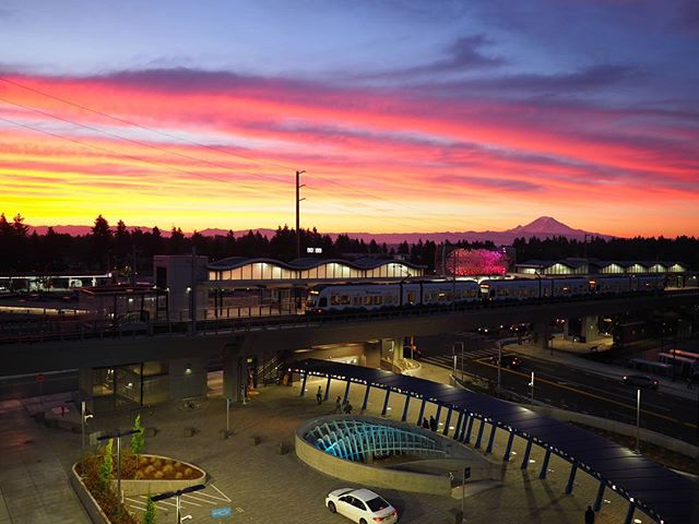 @SoundTransit: We saw your wonderful Angle Lake Station sunset photo, and in honor of our victory over Tim Eyman today, we raise you this spectacular sunrise!