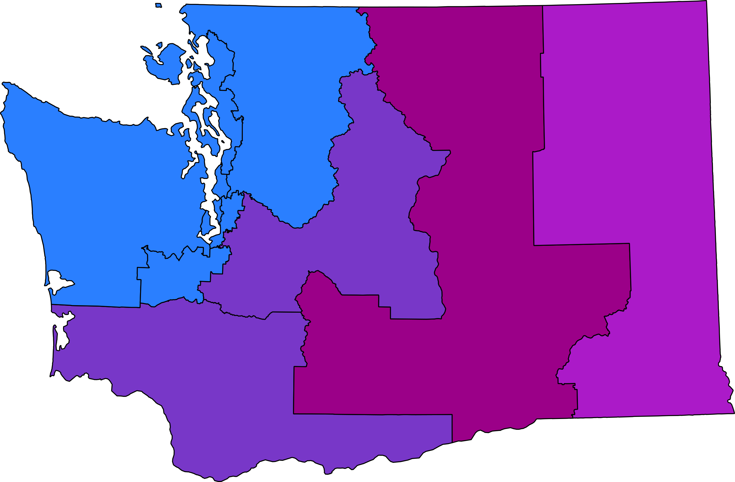 From blue to purple: Can Democrats turn more of Washington's congressional districts blue?