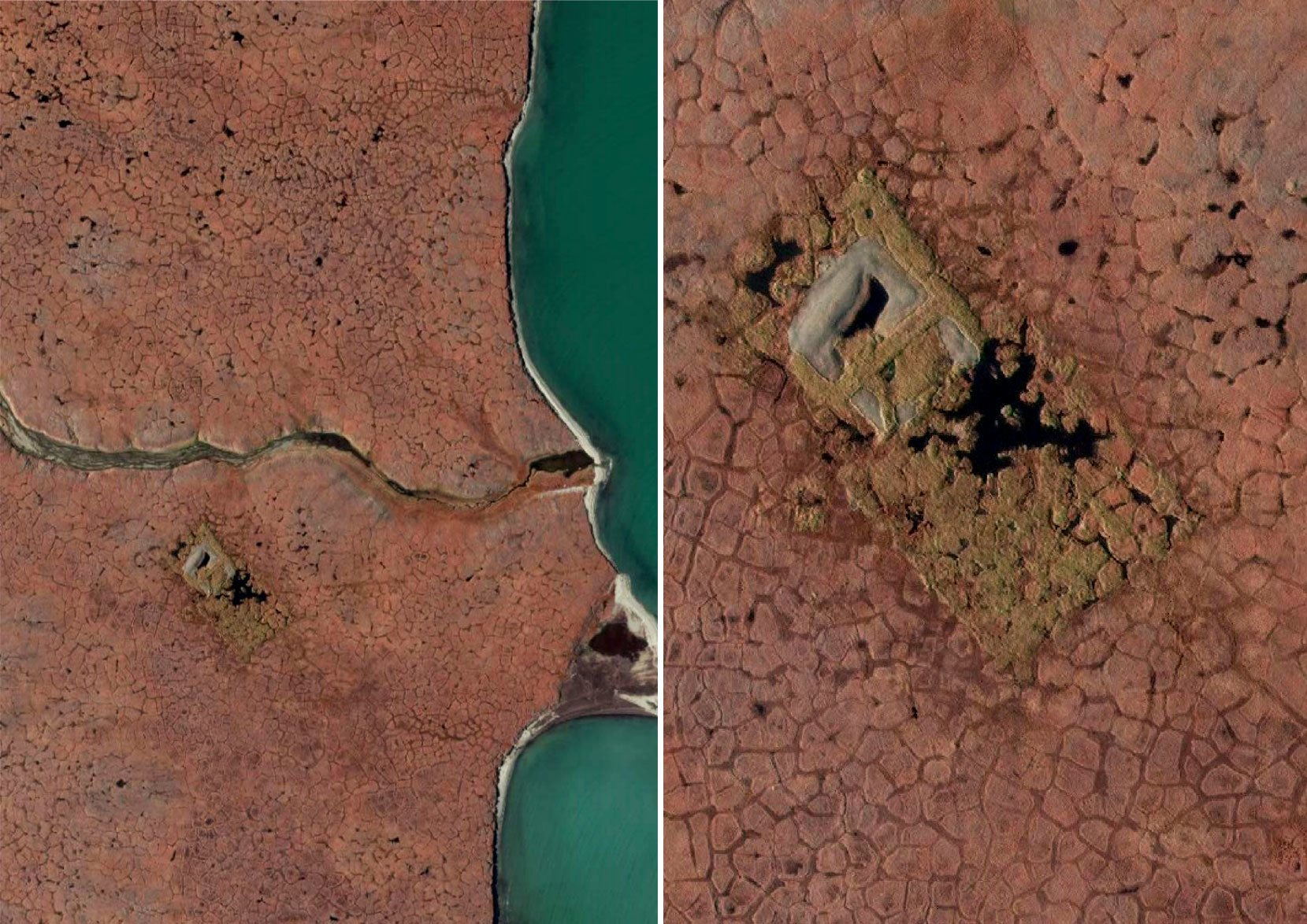 Satellite image of former Refuge drilling site
