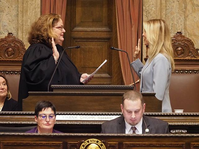 2018 Washington State Legislature Opening Ceremonies: @tina_orwall is sworn in as House Speaker Pro Tem #waleg