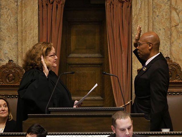 2018 Washington State Legislature Opening Ceremonies: John Lovick is sworn in as House Speaker Pro Tem #waleg