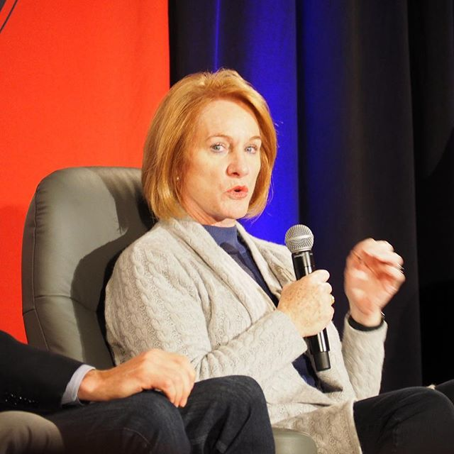 "Seattle Mayor Jenny Durkan making her opening statements at the ""Mayors of Cascadia"" panel at #crosscutfest"