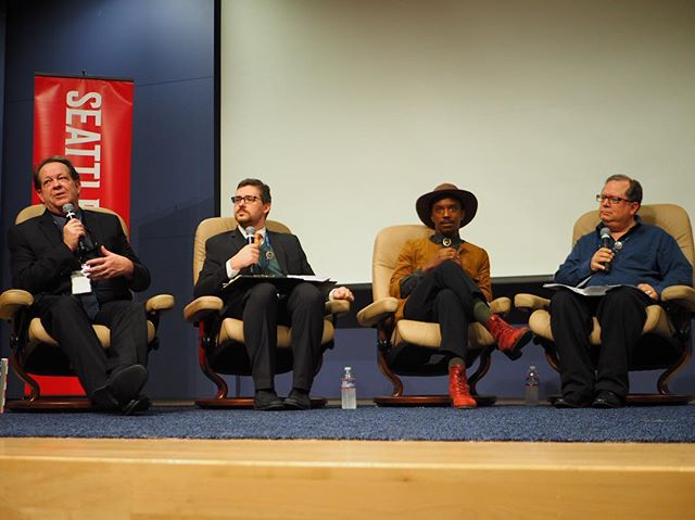 "#crosscutfest panel ""when free speech becomes hate speech"" at Seattle University"
