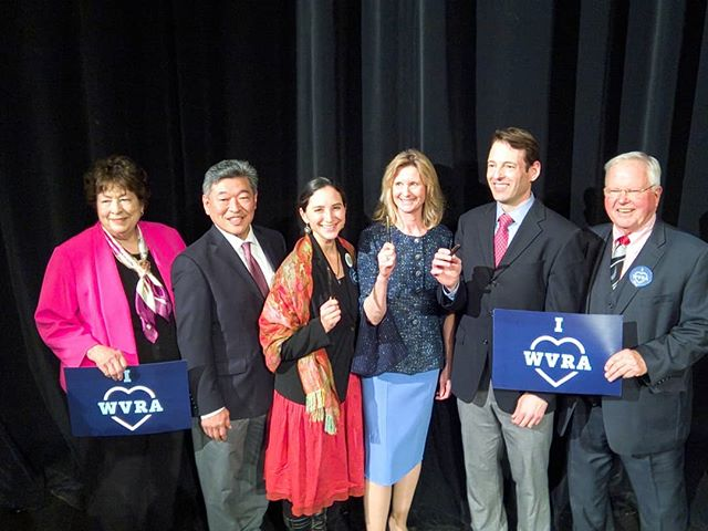 Washington State Senators Maralyn Chase, Bob Hasegawa, Rebecca Saldaña, Patty Kuderer, Andy Billig, and Sam Hunt celebrate their hard work expanding access to the ballot #CapturedByLight