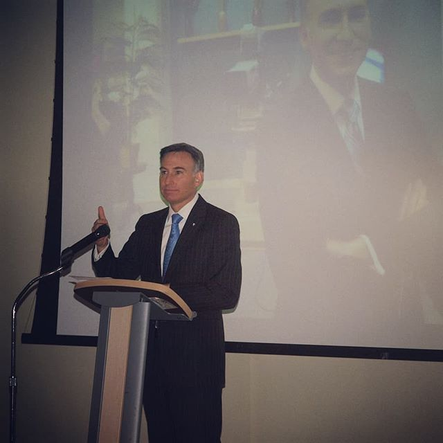 Countdown to NPI's 2018 Spring Fundraising Gala | From 2010: King County Executive Dow Constantine urges attendees to give generously to support NPI's research and advocacy (Photo: Andrew Villeneuve/NPI)