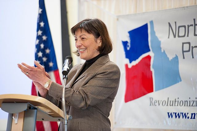 Countdown to NPI's 2018 Spring Fundraising Gala | From 2013: U.S. Representative Suzan DelBene applauds the work of NPI's team (Photo by Lincoln Potter). Join us tomorrow night and be part of our tenth gala: https://npi.li/gala/