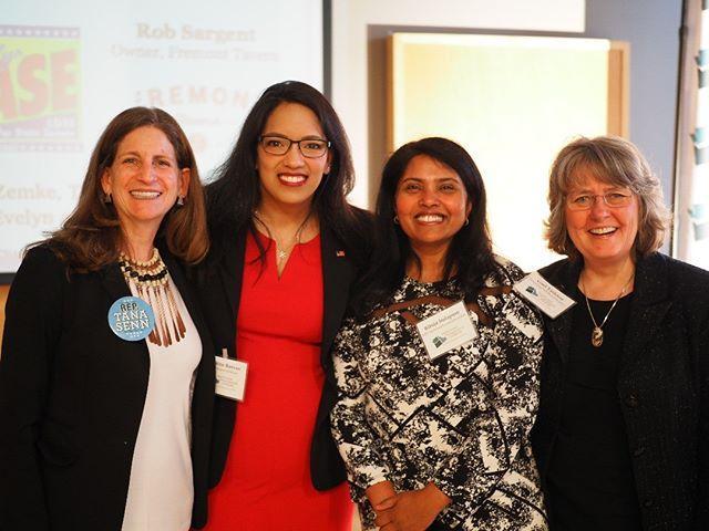 Flashback to NPI's 2018 Spring Fundraising Gala: Representatives Tana Senn, Kristine Reeves, and NPI's Gael Tarleton with NPI Advisory Councilmember Rituja Indapure (Photo: Theresa Curry Almuti/NPI)